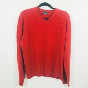 Banana Republic Red V-neck Cashmere Sweater